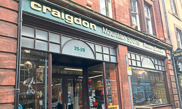 Craigdon Mountain Sports in Perth city centre.