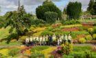 Perth in Bloom volunteers working in the Heather Garden in Riverside Park.