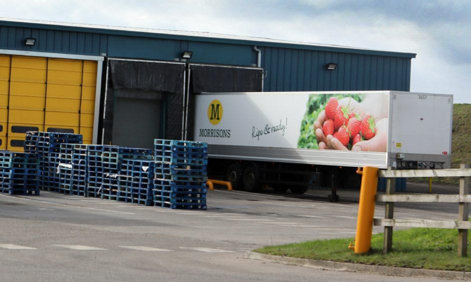 Morrison's potato packing factory at Clayholes Farm, Carnoustie.