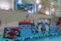 Inflatable party at Levenmouth Swimming Pool.