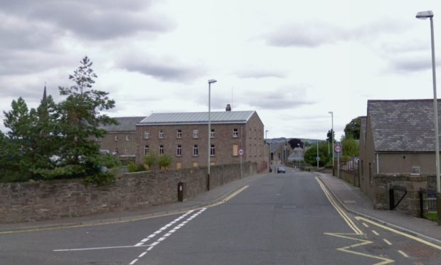 Junction of St James Road and New Road, Forfar (stock image).