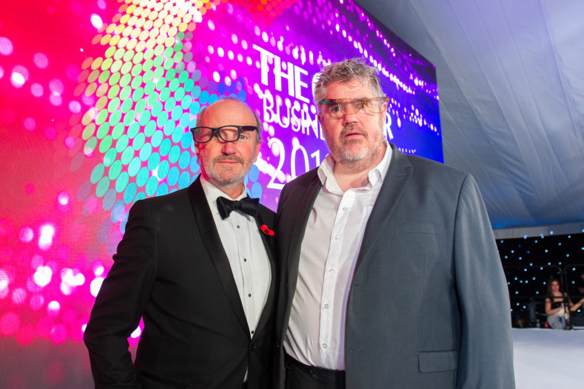 MC Fred MacAulay and the host for the evening Phill Jupitus.