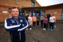 Jon Kidd and the community board members outside the Letham Community Hub