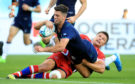 Adam Hastings sets Scotland on their way with the opening try.