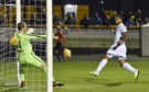 Kane Hemmings scores against Alloa.