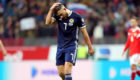 Dejection for Robert Snodgrass at end of Russia game.