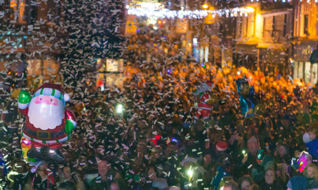 A previous Christmas lights switch-on in Dunfermline