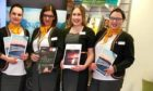 Former Thomas Cook staff in Perth - Zuzanna Sangster, Jackie Sutherland, Lisa Walker and Alisoun Ross