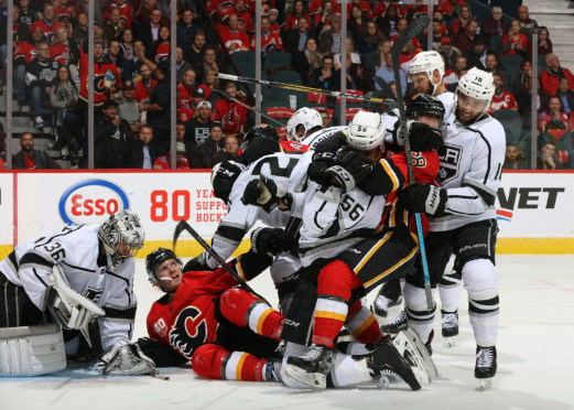 The ice hockey in Calgary wasn't for the faint-hearted.