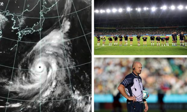 Scotland's game against Japan could be called off due to Typhoon Hagibis.
