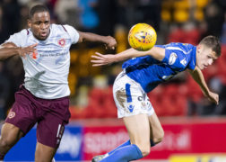St Johnstone beat Hearts 1-0 to climb off the bottom of the table