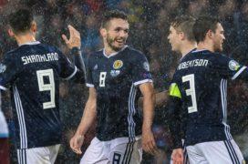 Scotland beat San Marino 6-0 and Lawrence Shankland scores