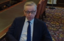 Michael Gove MP appeared via video link to the Scottish finance and constitution committee this afternoon.