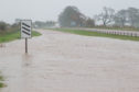 Flooding on the A92 between Monifieth and Carnoustie earlier this month.