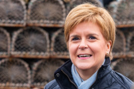 First Minister Nicola Sturgeon on her recent visit to Arbroath