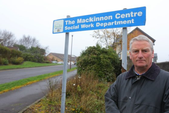 Cllr Craig Duncan at the Mackinnon Centre in Broughty Ferry.