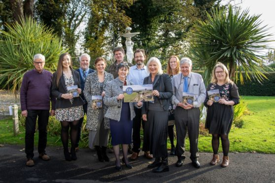 Pictured from left to right are Roger Brown, Joa Bell, Donald MacKenzie, Heather Stuart, Ed Heather-Hayes, Moira Henderson (Chair), Findlay Withers, Sandra Montador-Stewart, Caroline Warburton, John Kirkaldy, Ailsa Dempsey.