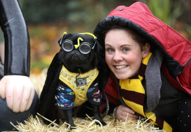 Nikki Stirling from Carnoustie with her pug Chewie.