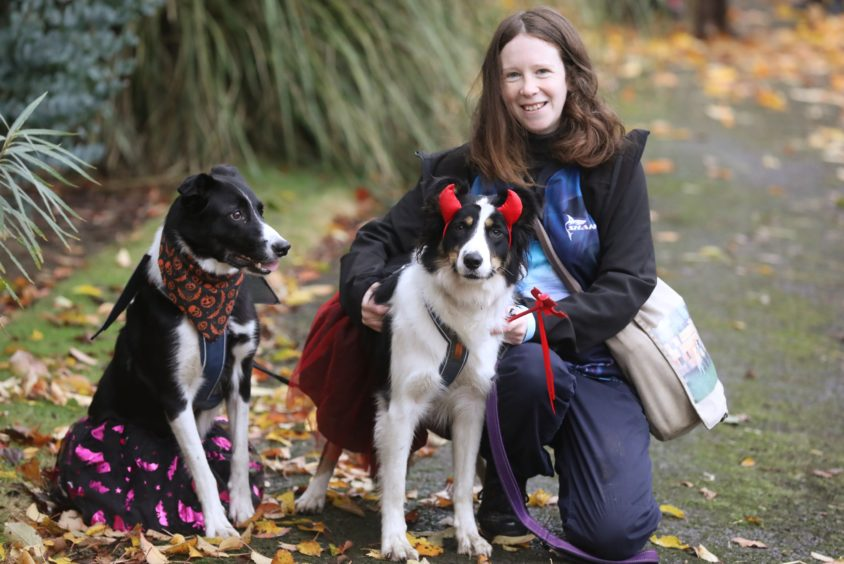 Katherine Thomas from Brechin with Zena & Moss.