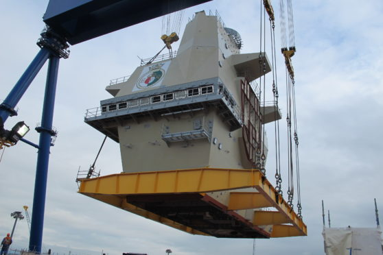 A picture of work starting on the HMS Queen Elizabeth at Rosyth a number of years ago - but could more work be on the way?
