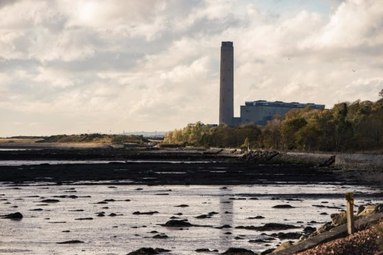 Longannet Power Station, now de commissioned, in Kincardine, Fife.