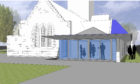 A graphic visualisation of the new community hub.