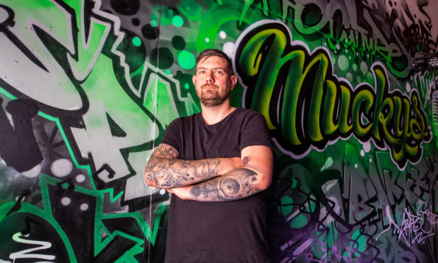 New owner Ricky Kennedy at Mucky's (Former Green Room), 97 Canal Street, Perth.