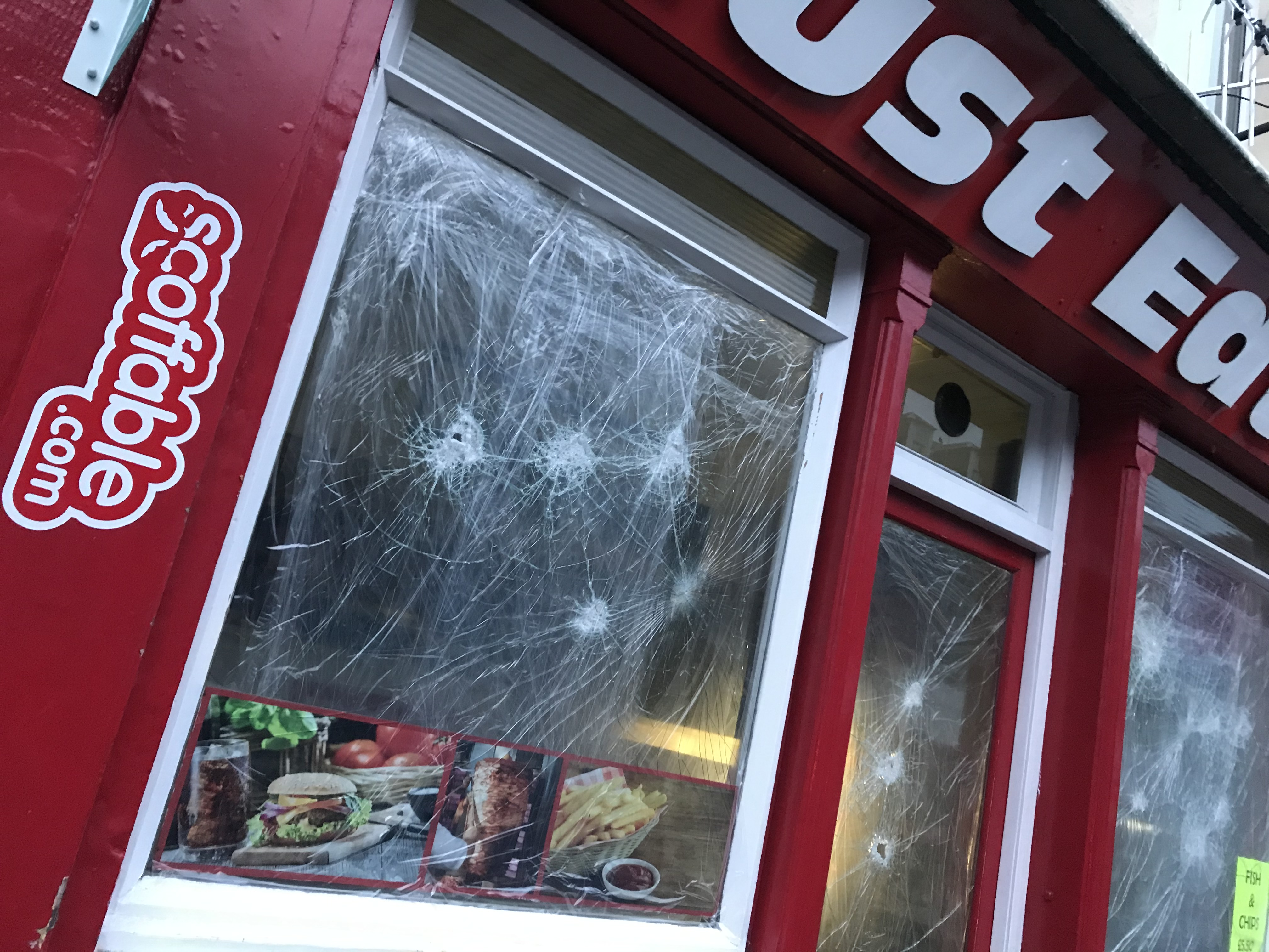Perth Takeaways Windows Smashed Again After Owners Pay