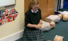 Rebecca Morrison during the CPR training session.