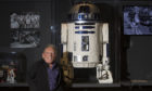 Star Wars actor Jimmy Vee with the original R2-D2.