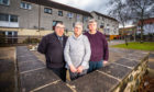 Churhcill Court residents David MacDougall, Catherine McNiven and Robert Bruce want immediate action taken at the flats.