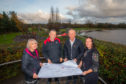 Friends of Lochore Meadows secretary Pauline Grandison, Ian Laing, David McKay and Karen Hunter, treasurer of the Friends group.