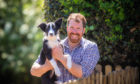 New Courier columnist Jim Smith with his dog Floss.