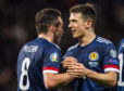 Ryan Jack (right) with John McGinn.