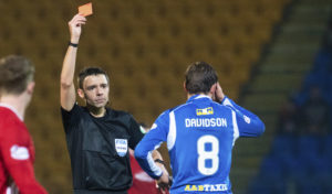Murray Davidson 'gutted' to finally see red with St Johnstone