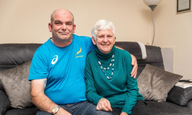 Niall Menzies (40) with mum Evelyn Menzies (68) who has been nomination for the Stephen McAleese Outstanding Contribution to Headway Award.