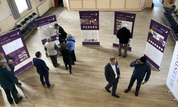 Pitlochry residents inspected the early Premier  Inn proposals over the weekend.