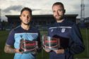 Declan McDaid and James McPake with their awards.