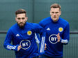 Graeme Shinnie in Scotland training.