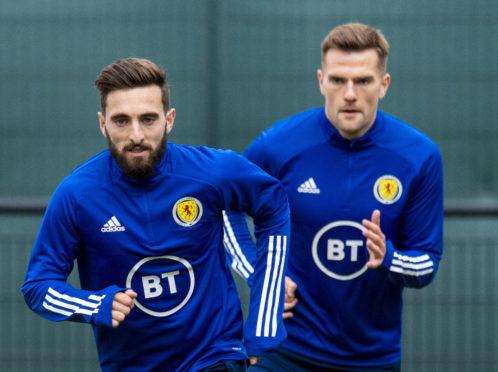 Graeme Shinnie in Scotland training.
