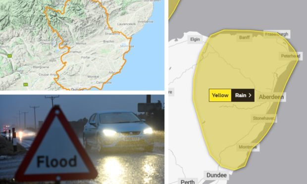 Flood and weather warnings have been issued for Angus.