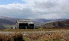 A hut overlooking Glen Quaich.