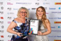 Alison Henderson, chief executive of Dundee and Angus Chamber of Commerce with awards judge Christine Cary