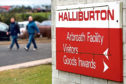 Kris Miller, Courier, 18/02/15. Picture today at the Halliburton Arbroath Facility for story out job losses due to low price of oil. Pic shows workers leaving the Arbroath plant today.