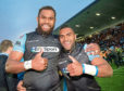 The Weegies from Fiji: Niko Matawalu (right) and Leone Nakarawa during their first spells at Scotstoun.