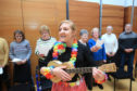 Vocal Chord Choir at Perth Concert Hall led by Emma Neck on Ukelele. Picture: Phil Hannah.