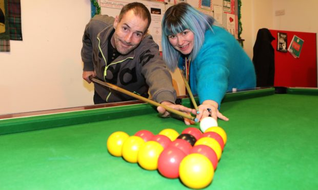 Staff member Lisa Paterson and service user Darren Oakes at the CATH centre.