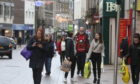 Boxing Day shoppers on Kirkcaldy High Street.