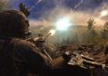 A 45 Commando Royal Marine firing a 50 calibre heavy machine gun in Estonia on Exercise Baltic Protector .