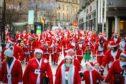 Hundreds of Santas took part in the Dundee Santa Dash.
